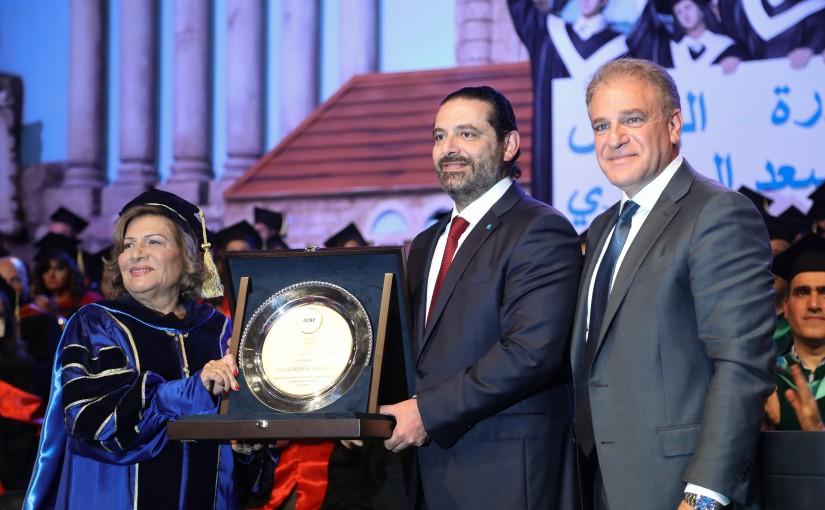Pr Minister Saad Hariri Attends the Graduation of AUST at Biel