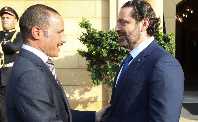 Pr Minister Saad Hariri meets Head of Kuwaiti Parliament