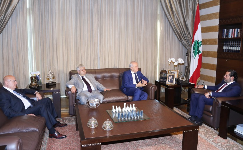 Pr Minister Saad Hariri meets a Delegation from Lebanese French Association
