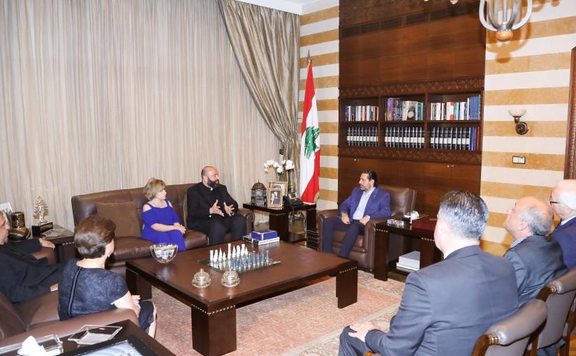 Pr Minister Saad Hariri meets a Delegation from NDU