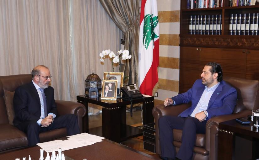 Pr Minister Saad Hariri meets Minister Yacoub Saraf