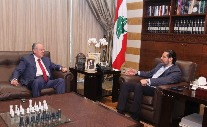 Pr Minister Saad Hariri meets Mr Wadih el Abssi