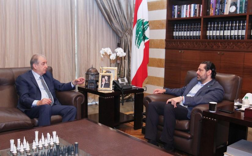 Pr Minister Saad Hariri meets Former MP  Yehia Shamass