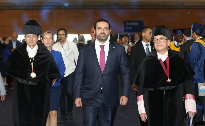 Pr Minister Saad Hariri Attends the IE Graduation Ceremony in Madrid Spain