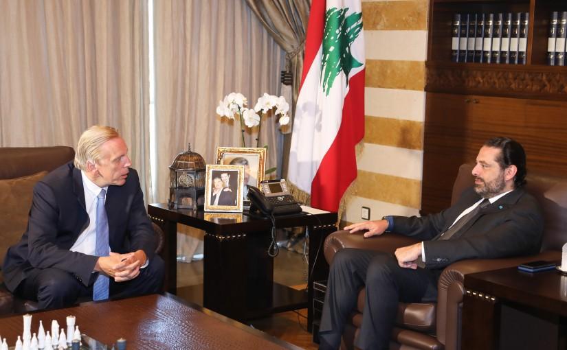 Pr Minister Saad Hariri meets Belgium Ambassador