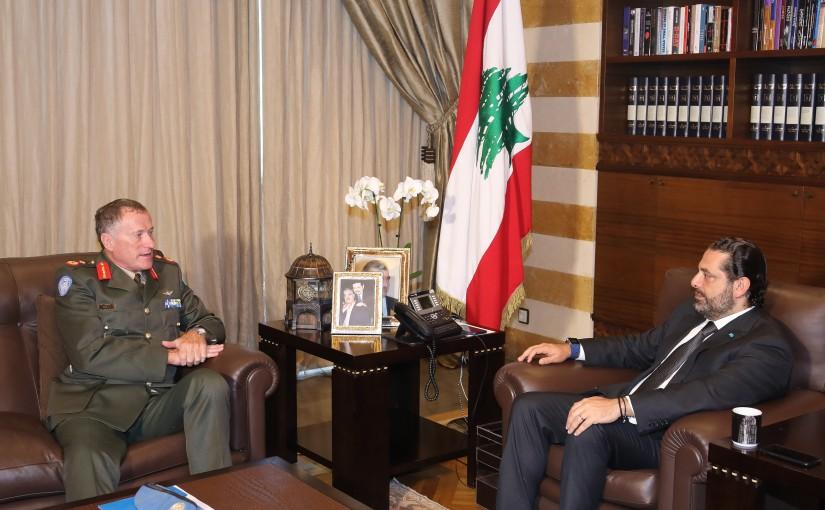 Pr Minister Saad Hariri meets General Micheal Berri