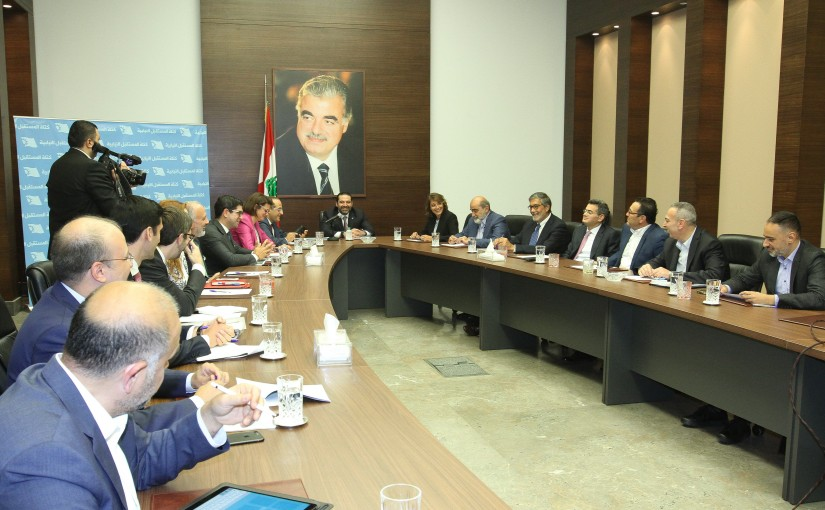 Pr Minister Saad Hariri Heading a Delegation from Makenzie Consulted