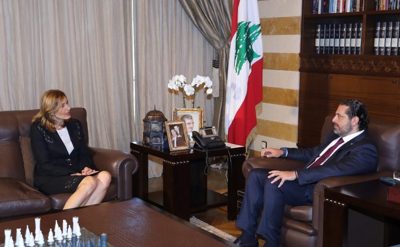 Pr Minister Saad Hariri meets Ambassador Joana el Kazzi
