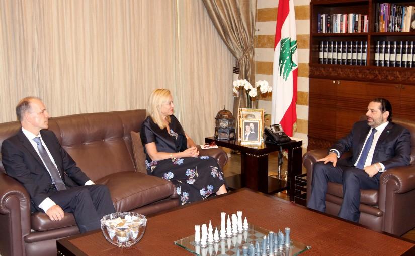 Pr Minister Saad Hariri meets Holland Minister Segrid Kaag