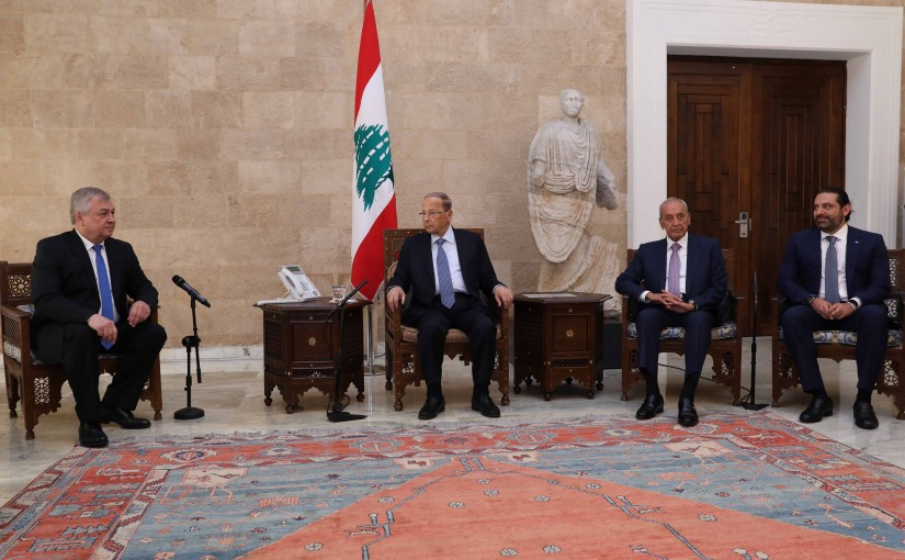 President Michel Aoun Meets Russian Special Envoy to Syria Alexander Lavrentiev