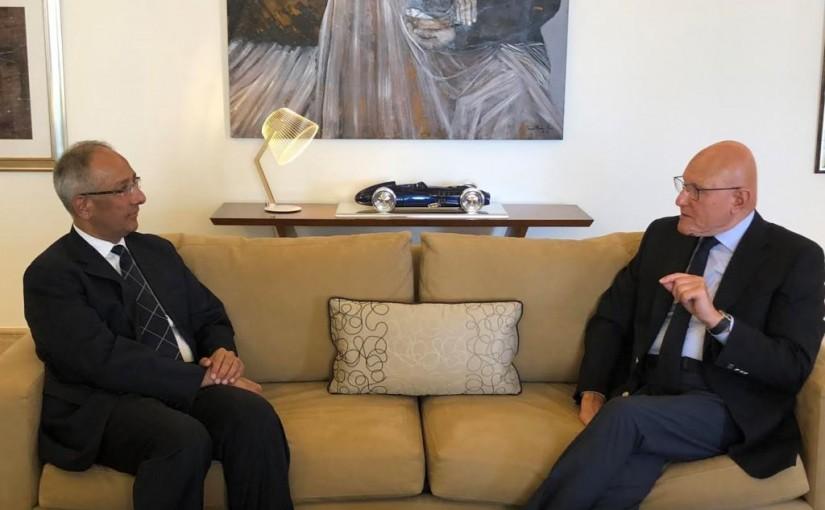 Former Pr Minister Tammam Salam Meets Pakistan Ambassador