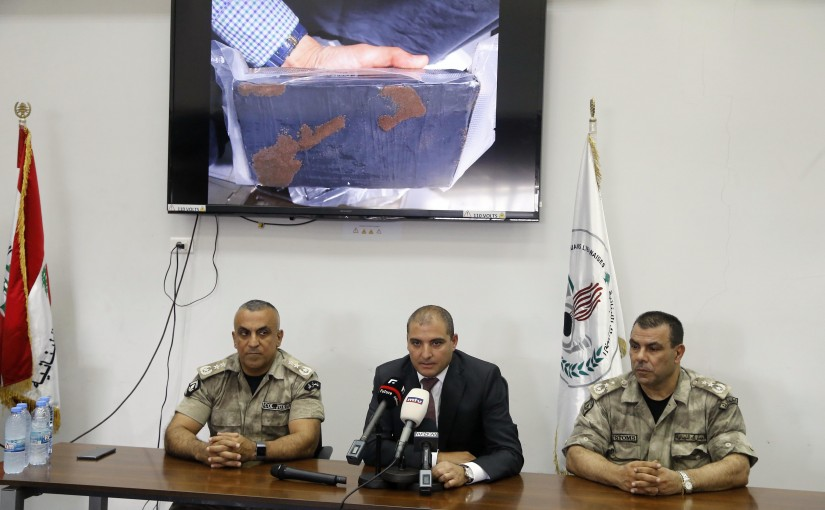 Press Conference for the  Head of the Customs at Beirut Port