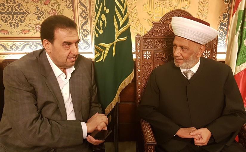 Mufti Abdel Latif Derian Meets MP Walid Baarini