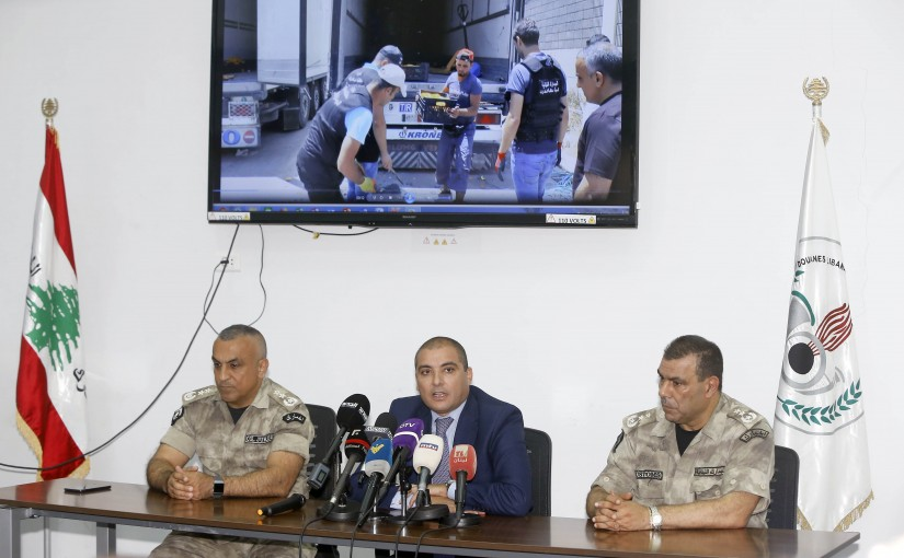 Press Conference For General Director of the Higher Customs Bureau Badri Daher