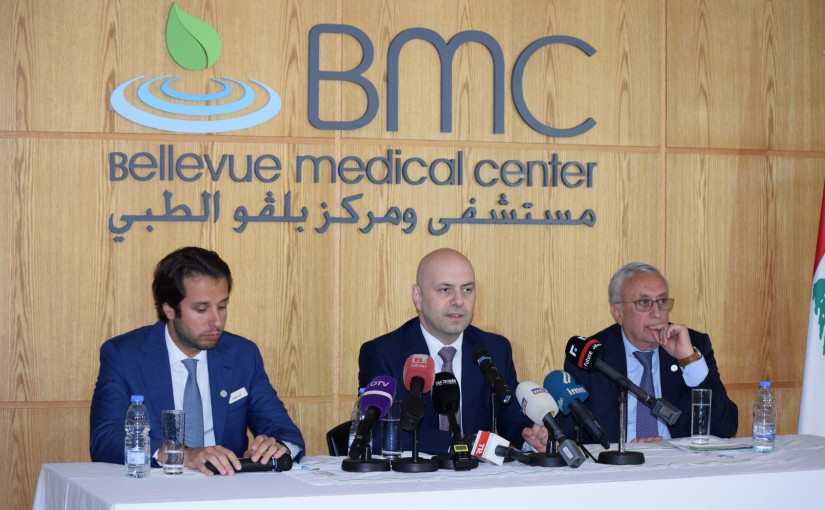 Press Conference For Minister Ghassan Hasbani at Bellevue Medical Center