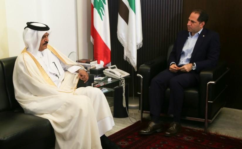 MP Sami Gemayel meets Qatar Ambassador