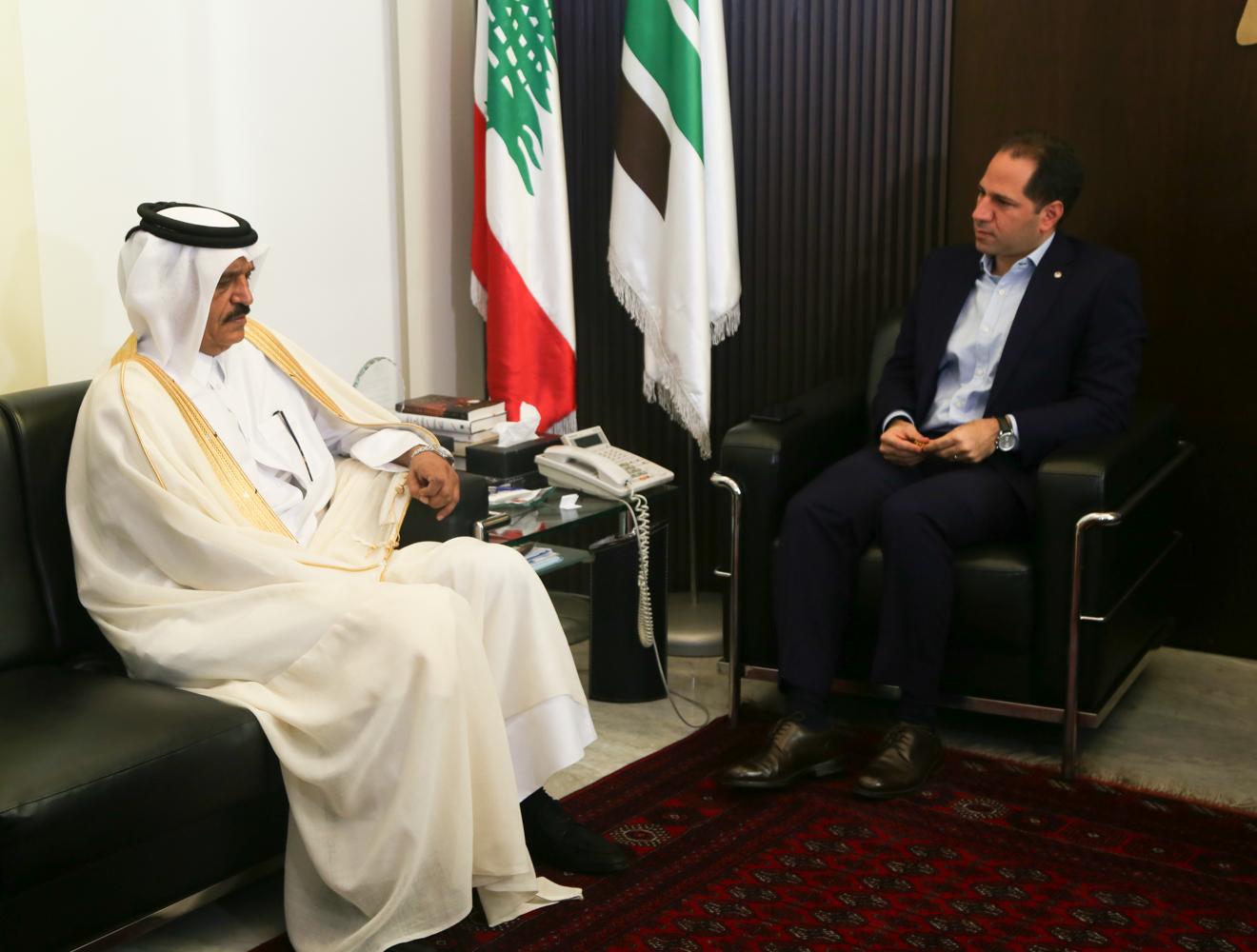 08 August - Qatar Ambassador @ Kataeb HQ-5786