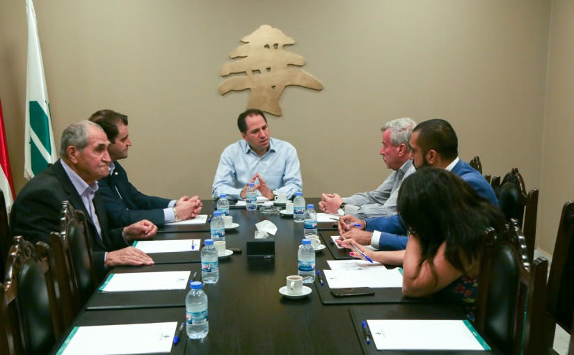 MP Sami Gemayel meets a Delegation from Zahle Electricity