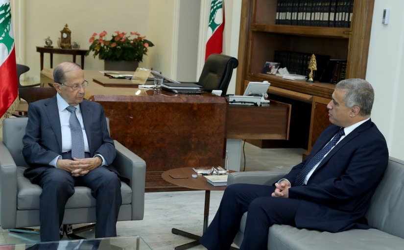 President Michel Aoun meets MP Edgar Traboulsi