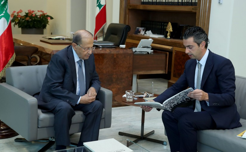 President Michel Aoun meets Mr Fady Bassbouss