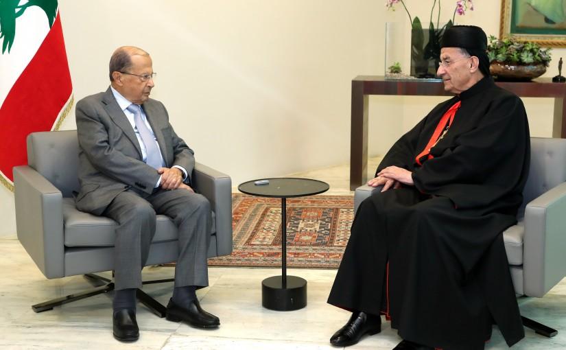 President Michel Aoun meets Patriarch Boutros Raii