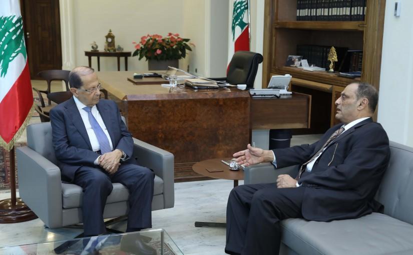 President Michel Aoun Meets Former Minister Adnan Adoum