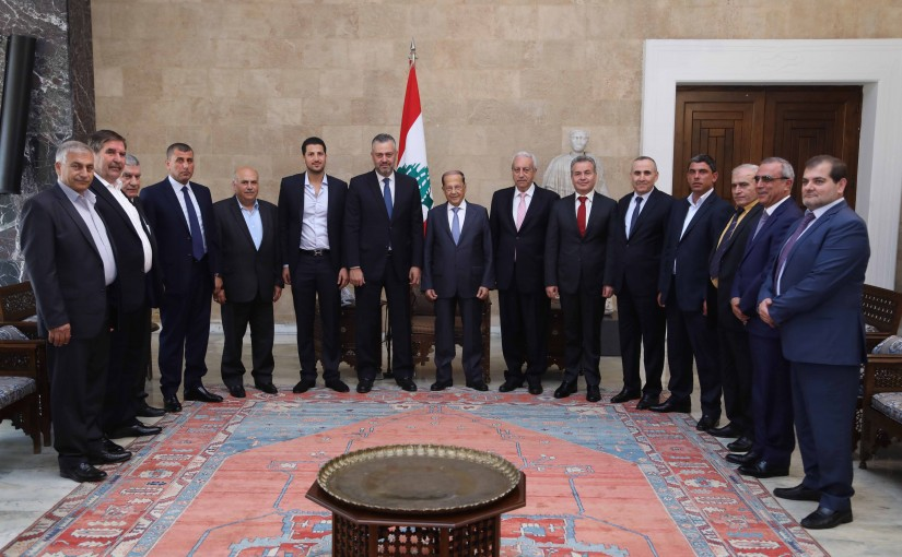 President Michel Aoun Meets a Delegation From Akkar Municipalities Union