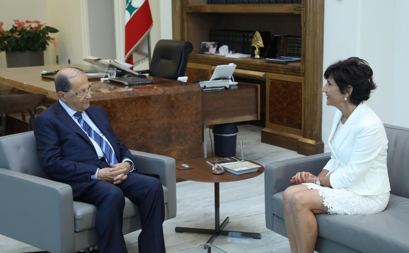 President Michel Aoun Meets Lebanese Ambassador to The United Nations Amal Mdalalli
