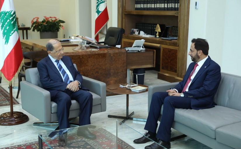 President Michel Aoun Meets Lebanese Ambassador in Ghana Maher Kheir