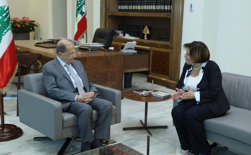 President Michel Aoun Meets Lebanese Ambassador in Poland Reina Charbel