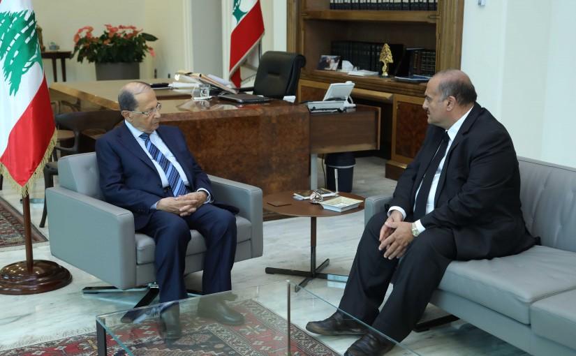 President Michel Aoun Meets Lebanese Ambassador in Syria Saed Zakhia