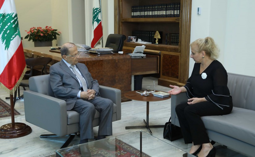 President Michel Aoun Meets UNESCO Ambassador Sahar Baassiri