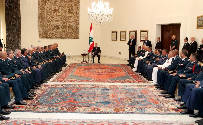 President Michel Aoun Meets a Delegation From Army Commander
