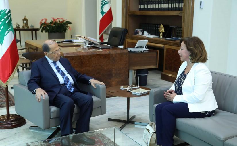 President Michel Aoun Meets Lebanese Ambassador in Armenia Maya Dagher
