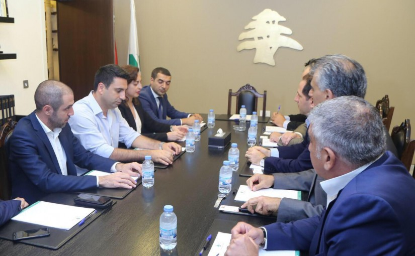 MP Sami Gemayel Meets an Armenian Parliamentary Delegation