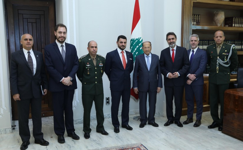 President Michel Aoun Meets Hussein Kalout Special Secretary for Strategic Affairs of the Brazilian Government