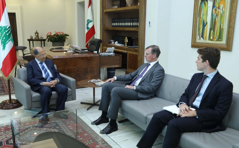 President Michel Aoun Meets British Ambassador Hugo Shorter