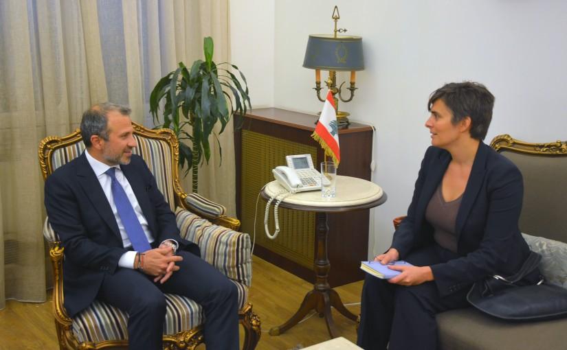 Minister Gebran Basil Meets Canadian Ambassador