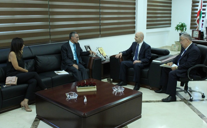 Minister Ghassan Hasbani Meets a Delegation From the Central Inspection Authority