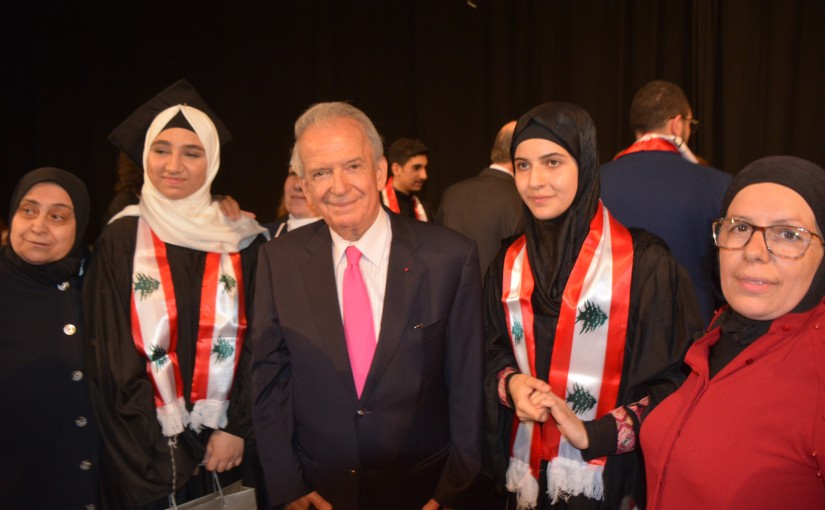 Minister marwan hemedeh honoring top ten students of the final examinations
