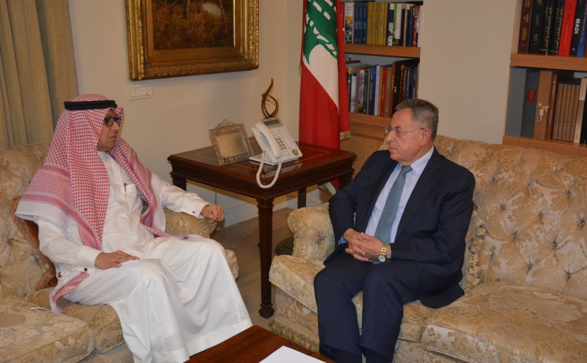 Former Pr Minister Fouad Siniora meets Saudi Charger D affairs