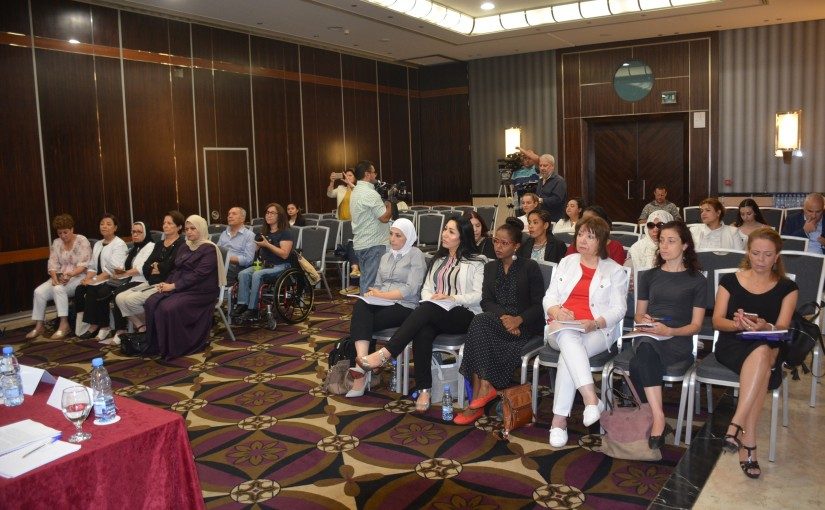Press conference for the Arab women forum at crown plaza hotel