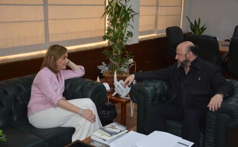 Minister Melhem Riachi meets MP Dima Jamali