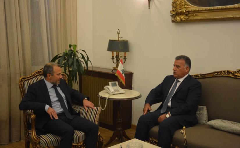 Minister Gebran Bassil meets General Abbass Ibrahim
