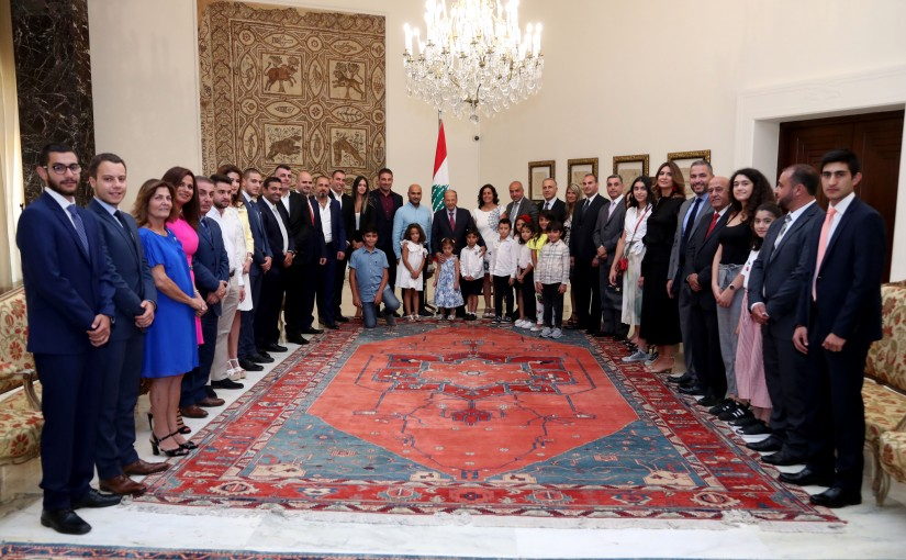 President Michel Aoun meets Delegation From Lebanese Diaspora in Gulf States