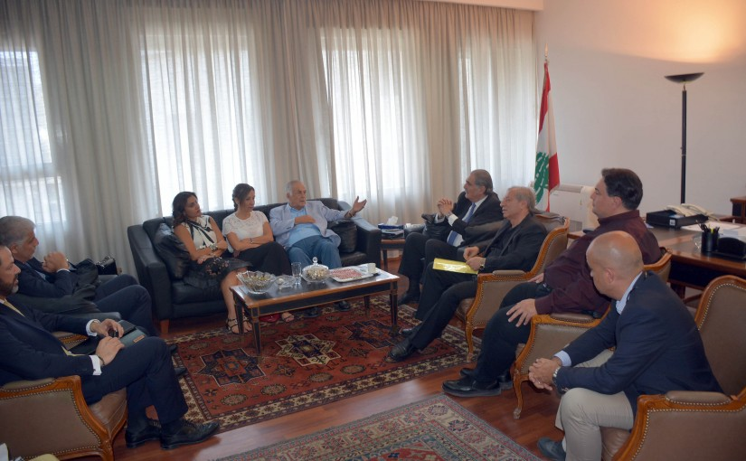 Minister Selim Jreisati Meets a Delegation From The Follow-up Committee of Audio-Visual & Written Media