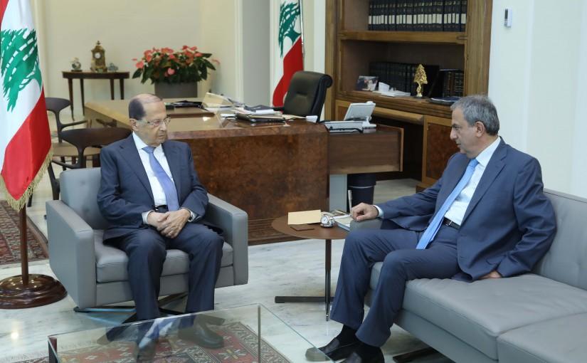 President Michel Aoun Meets Lebanese Ambassador in Vatican Farid Elias El Khazen