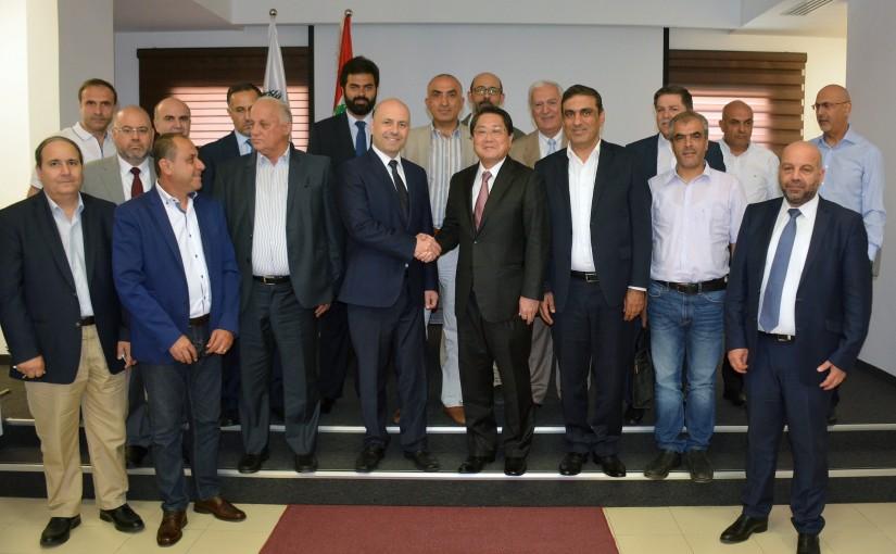 Minister Ghassan Hasbani Meets Japanese Ambassador