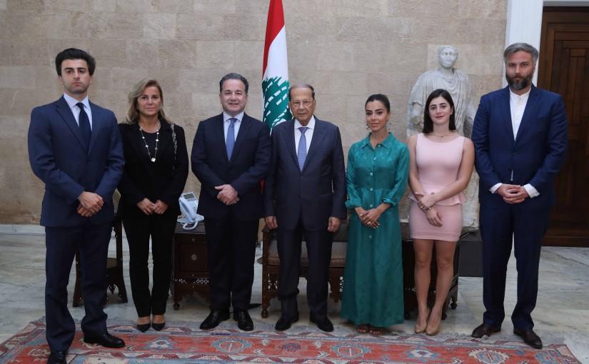 President Michel Aoun Meets Prf Nadey Hakim & Family