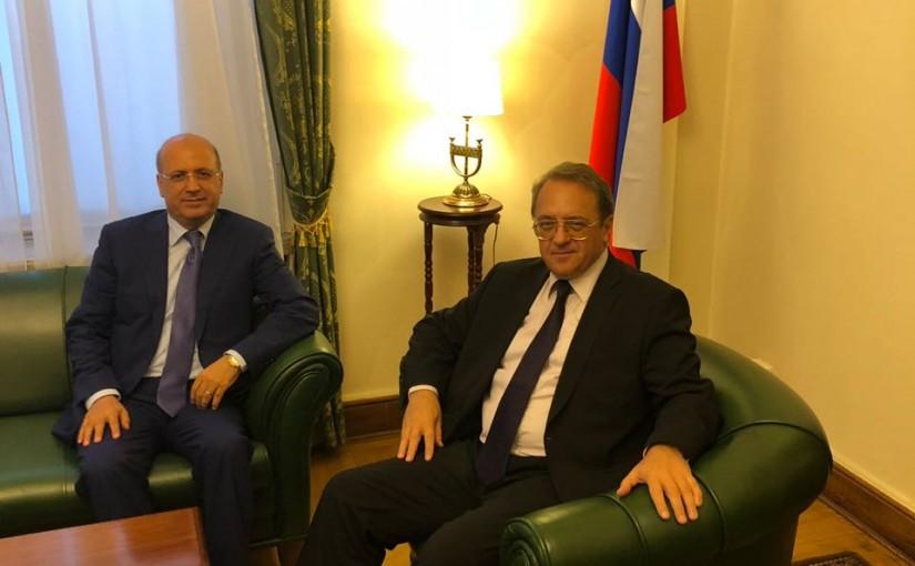 Mr Michael Boghdanove meets Mr George Chebaan